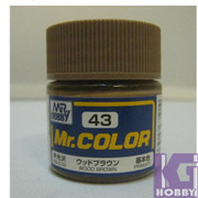 Mr Hobby Mr. Color GUNZE MODEL COLOR PAINT 10ml 43 WOOD BROWN