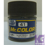 Mr Hobby Mr. Color GUNZE MODEL COLOR PAINT 10ml 41 FLAT RED BROWN