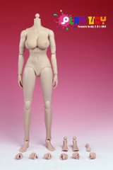 Play Toy 1/6 Nude Girl Female Action Figure Body-Pale Skin LARGE Breast Version 4.0