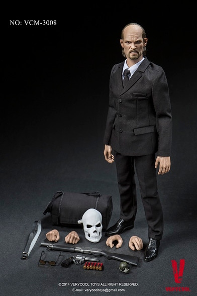 "Verycool 1:6 VCM-3008 Medicated Psychopath James Black Belt for 12/"" figure use"