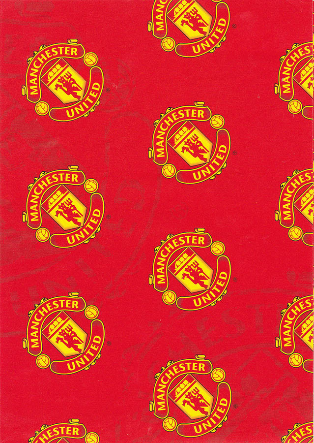 Manchester United Gift Wrapping Paper Cardspark