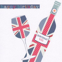 Hope And Glory - Wine Birthday Card