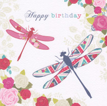 Hope And Glory Dragonflies Birthday Card