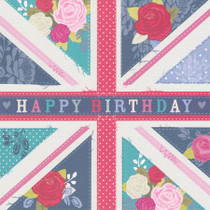 Hope And Glory  Happy Birthday British Flag Card