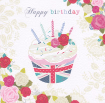 Hope And Glory - Birthday Cup cake Card