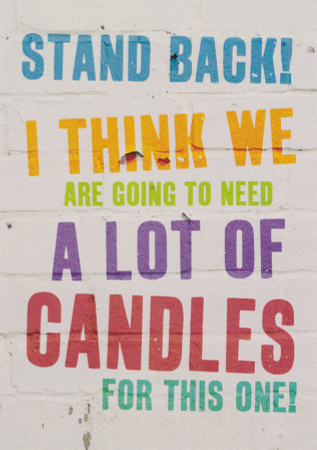 Candles Funny Birthday Card