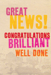 Congratulations Card - Great News