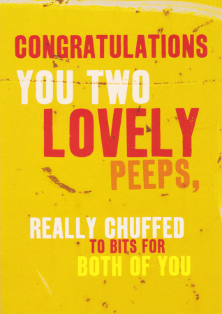 Congratulations Card - Lovely Peeps