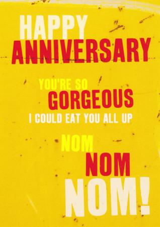 Happy Anniversary Card - Nom Nom