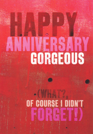 Gorgeous Happy Anniversary Card
