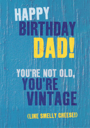 Dad Vintage Happy Birthday Card