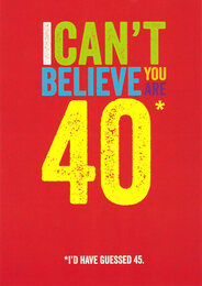 40th Funny Birthday Card