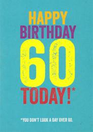60th Funny Birthday Card