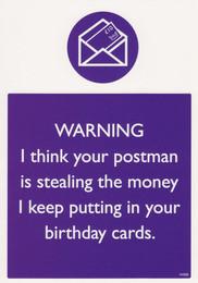 Postman Birthday Card