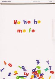 Ho Ho Ho Christmas Card