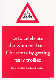 Alcohol Christmas Card