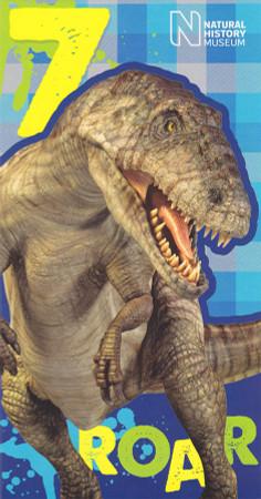 7th Dinosaur Birthday Card