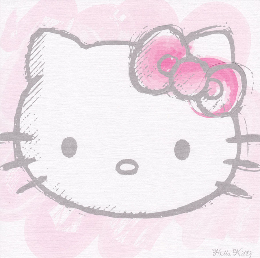 Hello kitty classic square greeting card bow cardspark hello kitty classic square greeting card loading zoom m4hsunfo