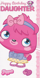 Moshi Monsters Daughter Birthday Card