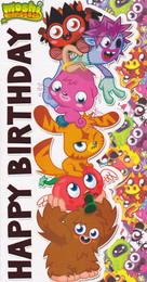Moshi Monsters Birthday Card