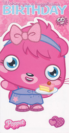 Moshi Monsters - Poppet Birthday Card
