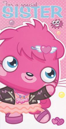 Moshi Monsters Sister Birthday Card
