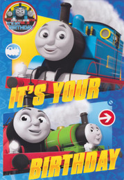 Thomas And Friends Birthday Card & Badge