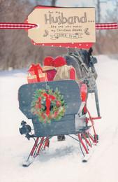Tranquility - Husband Sleigh Christmas Card