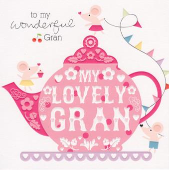 Cherry On Top Gran Birthday Card