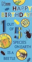 Natural History Museum Birthday Card