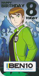 Ben 10 Age 8 Birthday Card