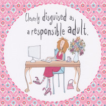Cleverly Disguised Adult Greeting Card - Born To Shop