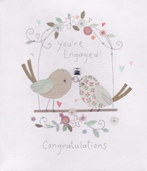 Congratulations On Your Engaged Card - Button Box