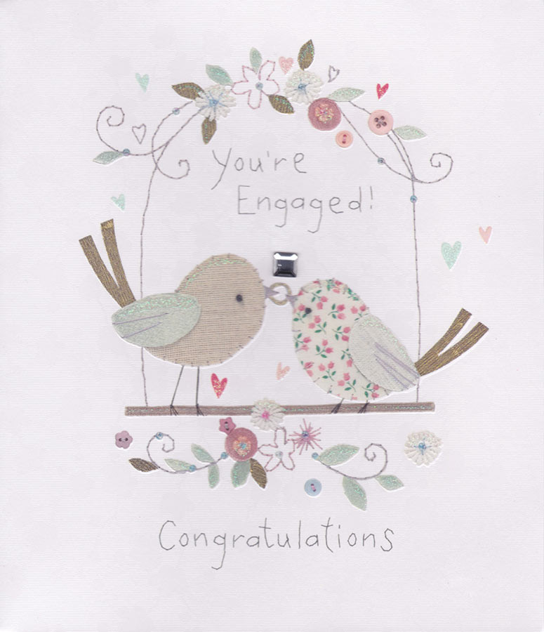 Congratulations Your Engaged Card - Button Box - CardSpark