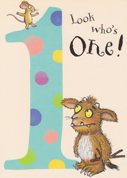Gruffalo's Child - Age 1 Birthday Card