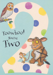 Gruffalo's Child - 2nd Birthday Card - Blue