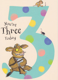 Gruffalo's Child - 3rd Birthday Card