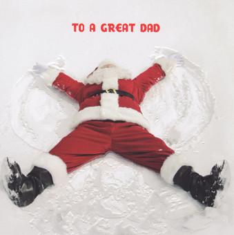 Dad Christmas Card - Santa Snowangel
