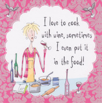 Cook With Wine Alcohol Birthday Card - Born To Shop