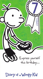 Diary Of A Wimpy Kid Age 7 Birthday Card