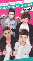 Union J Granddaughter Birthday Card