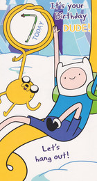 Adventure Time - 7th Birthday Card