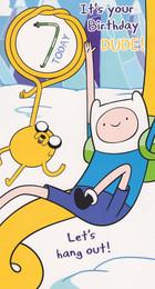 Adventure Time - 7th Birthday Card