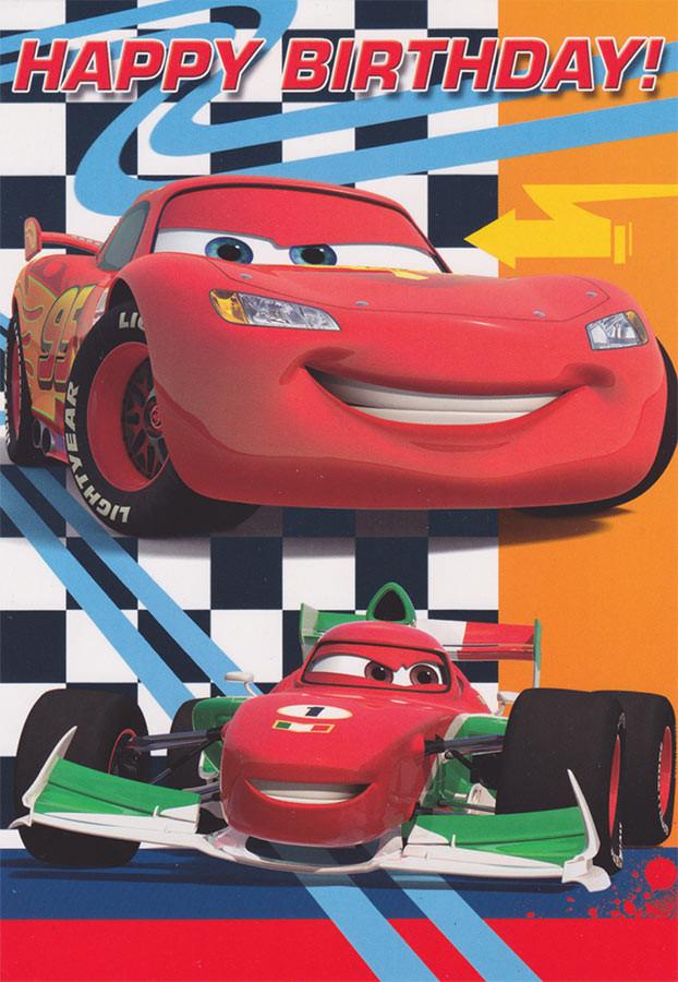 Disney Cars Birthday Card 5x7 Cardspark