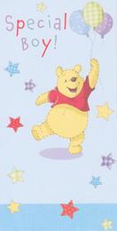 Winnie The Pooh - Boy Birthday Card