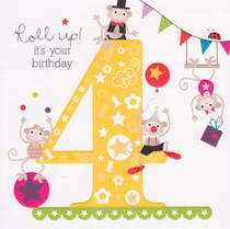 4th Birthday Card - Cherry On Top
