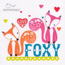 Foxy Anniversary Card - Cherry On Top