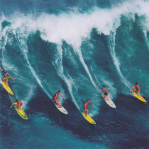 Surfing Greeting Card - Photographic