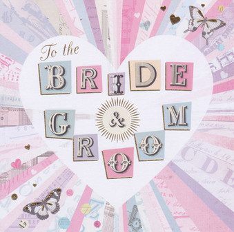Congratulations To The Bride And Groom Card - LJ