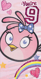 Angry Birds - Girl's 9th Birthday Card